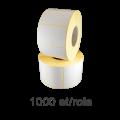 Role de etichete PE autodistructibile albe 80x45mm, 1000 et./rola
