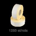 Role de etichete semilucioase 40x30mm, 1250 et./rola