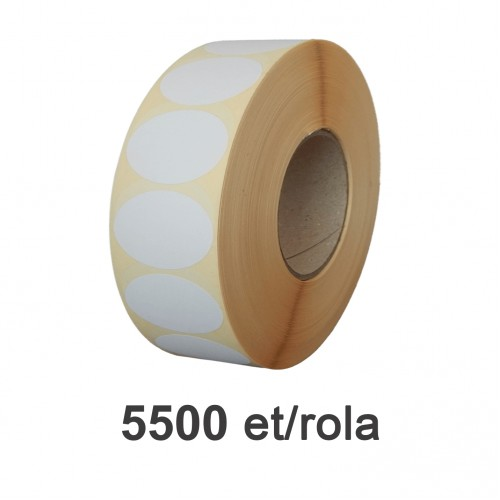 Role de etichete termice ovale 75x50mm Top Thermal 5500 et./rola
