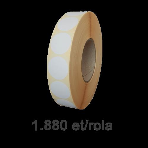 Role de etichete semilucioase rotunde 77mm 1880 et./rola