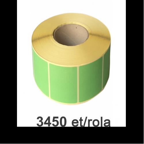 Role de etichete semilucioase verzi 80x40mm 3450 et./rola