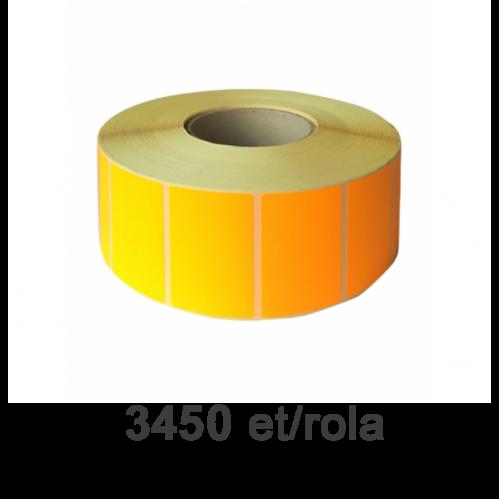 Role de etichete semilucioase portocalii fluo 70x40mm 3450 et./rola