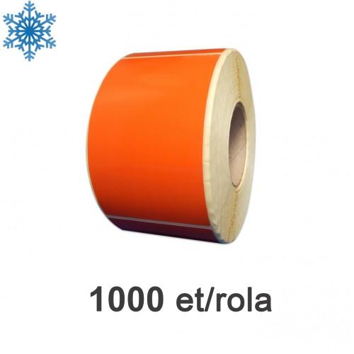Role de etichete semilucioase 100x150mm pentru congelate portocalii 1000 et./rola