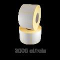 Role de etichete semilucioase 58x43mm, 3000 et./rola