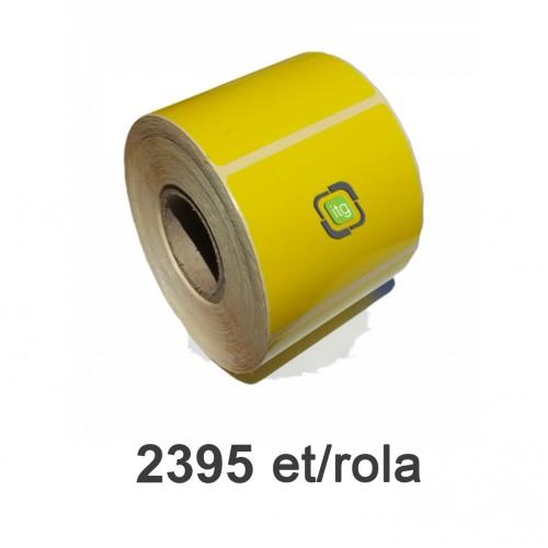 Role de etichete semilucioase galbene - fluorescent 60x60mm 2395 et./rola