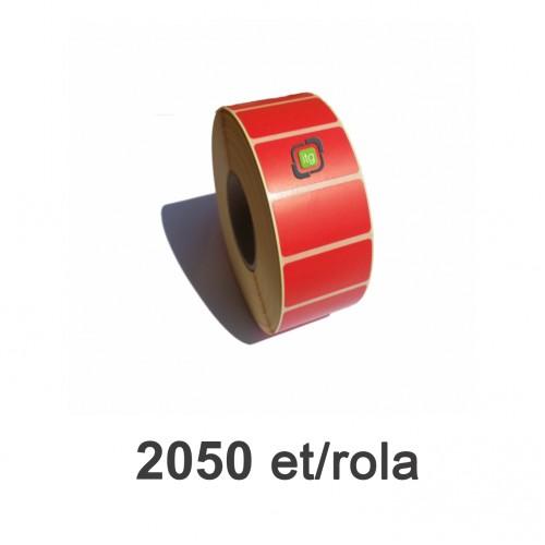 Role de etichete semilucioase 100x70mm 2050 et./rola rosii
