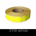 Role de etichete semilucioase rotunde galbene 17mm, 2110 et./rola