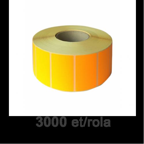 Role de etichete termice portocalii 30x15mm 3000 et./rola