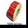 Role de etichete termice rosii 58x43mm, 1000 et./rola