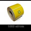 Role de etichete termice galbene 58x43mm, 1000 et./rola