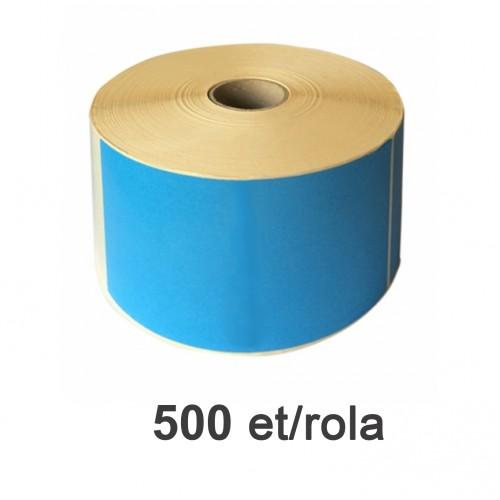 Role de etichete termice albastre 105x210mm 500 et./rola