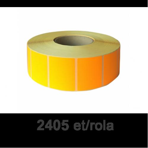Role de etichete semilucioase portocalii 80x60mm 2405 et./rola