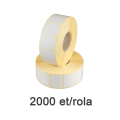 Role de etichete semilucioase 32x25mm, 2000 et./rola