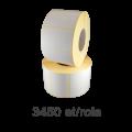 Role de etichete semilucioase 80x40mm, 3450 et./rola