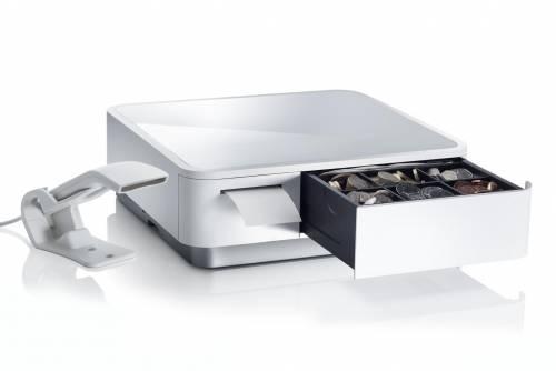 Sertar de bani si imprimanta Star Micronics mPOP cititor alb
