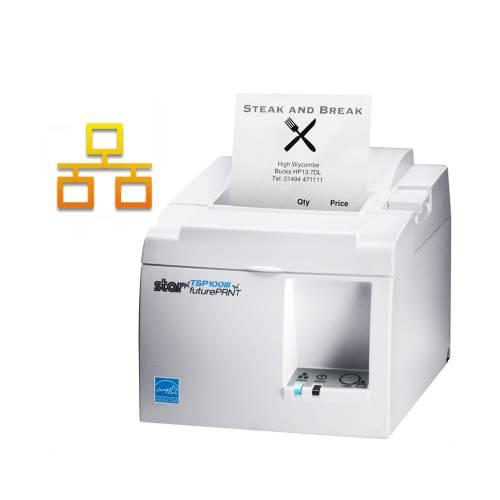 Imprimanta termica STAR TSP143IIIL LAN alba