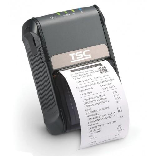 Imprimanta mobila de etichete TSC Alpha-2R 203DPI Wi-Fi USB neagra