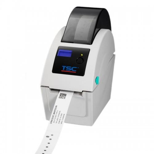 Imprimanta de bratari TSC TDP-225W USB Host display alba