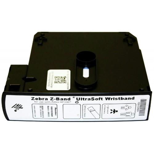 Bratari de identificare Zebra Z-Band Ultrasoft 25x152mm albe cutie 1800 buc pentru nou-nascuti