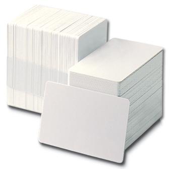 Card PVC Zebra Premier CR80 30mil alb 100 carduri