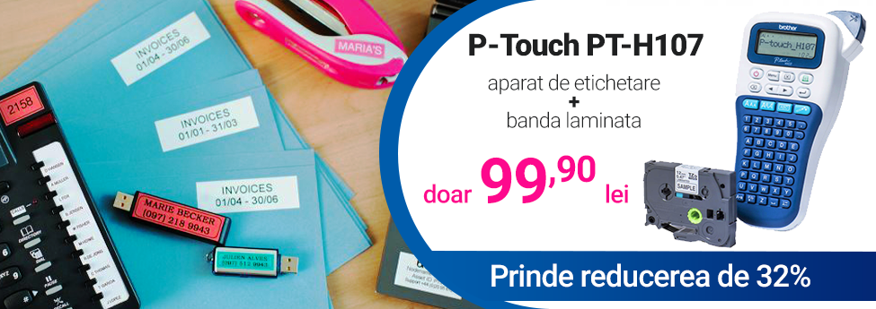 Aparat de etichetare Brother P-Touch PT-H107 - discount